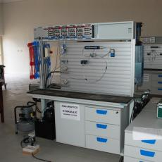 10. One of the  Pneumatic and Hydraulic Work Stations