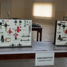 6. A section of the Pneumatics Training Systems